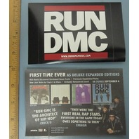 RUN DMC 2005 reissues promotional sticker Mint Condition New Old Stock