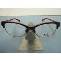 OAKLEY womens RX eyeglass frame THROWBACK dark brown OX1108-0552 NEW in O case