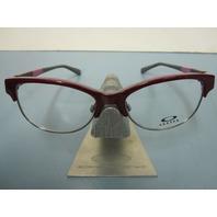 OAKLEY womens RX eyeglass frame THROWBACK dark red OX1108-0252 New in box