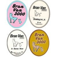 "BRAN VAN 3000 1998 ""drinking in L.A."" promotional stickers ~MINT~NEW old stock~!"
