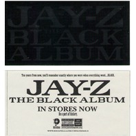 JAY-Z 2003 black album foil promotional sticker Mint Condition New Old Stock