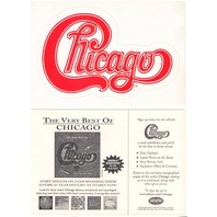 "CHICAGO 2002 ""very best of "" die cut promotional sticker ~MINT~NEW old stock~!"