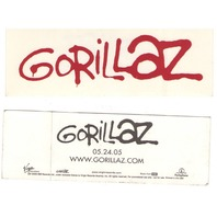 GORILLAZ 2005 Virgin Records promotional sticker MINT NEW old stock Damon Albarn