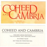 Coheed And Cambria  2005 promotional 2 sticker set Mint Condition New old stock