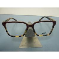 OAKLEY womens CONFESSION magenta tortoise OX1128-0352 RX eye frame NEW in box