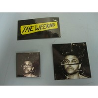 THE WEEKND 2015 BBTM PROMOTIONAL 2 STICKER/BADGE SET~NEW~MINT CONDITION~!