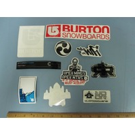BURTON snowboard RANDOM OLDER 10 sticker set ~NEW old stock MINT condition~!!