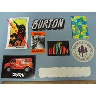 BURTON snowboard RANDOM OLDER 7 sticker set NEW old stock MINT condition