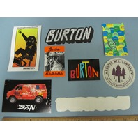 BURTON snowboard RANDOM OLDER 8 sticker set ~NEW old stock MINT condition~!!