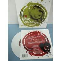 "Rise Against ‎2006 Ready To Fall PROMO 7"" WHITE vinyl NEW old stock never played"