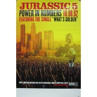JURRASIC 5 2002 power in numbers promo poster NEW old stock MINT condition