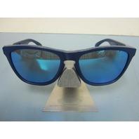 OAKLEY B1B Frogskins Mens Sunglasses Matte Blue w/ Sapphire Iridium OO9013-47!