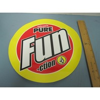 VOLCOM surf snowboard skateboard BIG FUN-CTION DEALER STICKER ~NEW~!!~!