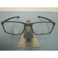 OAKLEY mens MILESTONE satin concrete 52 RX eyeglass frame OX8038-0452 NEW w/case