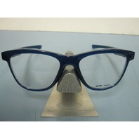 OAKLEY mens RX eyeglass frame GROUNDED frosted navy OX8070-0553 NEW in O case