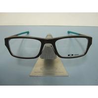 OAKLEY mens RX eyeglass frame CHAMFER brownstone/sea OX8039-0853 NEW w/case