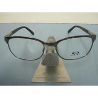 OAKLEY womens DESCENDER black chrome RX eyeglass frame OX3124-0553 NEW w/O case
