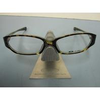 OAKLEY womens EMBLEM 4.0 *green tortoise* RX eyeglass frame 12-382 ~NEW w/case~!!