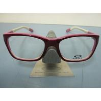 OAKLEY womens BLAMELESS 50/50 red RX eyeglass frame OX1103-0652 NEW in O case