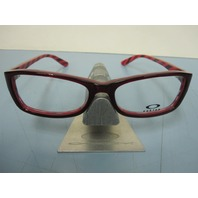 OAKLEY womens SHORT CUT 53 red cosmo RX eyeglass frame OX1088-0553 NEW in O case
