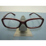 OAKLEY womens CRIMP RX eyeglass frame Red Marble OX1070-0253 NEW in baggy