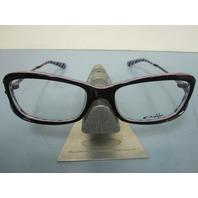 OAKLEY womens EXPOSURE night stripes OX1068-0153 RX eyeglass frame NEW in baggy