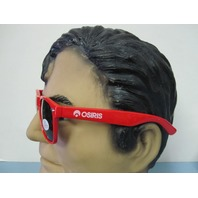 Osiris surf skateboard snowboard Highwear Sunglasses New Old Stock Red