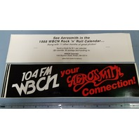 WBCN Boston Vintage Aerosmith Promotional Sticker New Old Stock Flawless