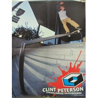 Consolidated 2001 Clint Peterson 2 sided skateboard poster New Old Stock