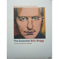 Billy Bragg 2003 Must I Paint You A Picture promotional poster New Old Stock