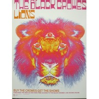 The Black Crowes 2001 lions 2 sided promo poster NEW old stock Excellent