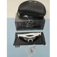 OAKLEY mens Radar Path Sunglass Polished White/Black Iridium 09-758 New In Box