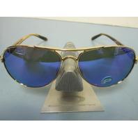 OAKLEY womens Tie Breaker Sunglass Gold/Violet Polarized OO4108-14 New In Box