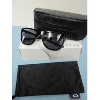 OAKLEY womens Reverie Sunglass Polished Black/Grey OO9362-0155 New In Box