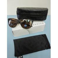 OAKLEY womens Reverie Polarized Tortoise/Tungsten Iridium OO9362-0555 New w/Box