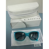 OAKLEY womens Drop In Sunglass Frosted Blue/Black Grey Gradient OO9232-10 New
