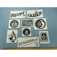 VOLCOM surf snowboard skateboard BIG 9 sticker set NEW old stock MINT condition
