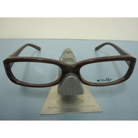OAKLEY womens CASSETTE brown horn OX1069-0252 RX eyeglass frame NEW in baggy
