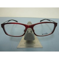 OAKLEY womens SPECULATE garnet/black OX3108-0252 RX eyeglass frame NEW in baggy