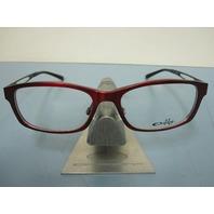 OAKLEY womens SPECULATE garnet/black OX3108-0252 RX eyeglass frame NEW in baggy