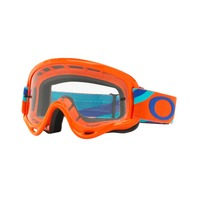 Oakley O-Frame MX Heritage Racer Goggle Orange/Clear OO7030-11 New in Box