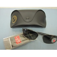Ray Ban Sunglass Polarized Silver/Green RB3430 004/58 New In Case