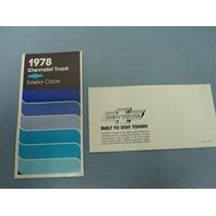 Chevrolet 1978 Dealer Truck Exterior Color Brochure New Old Stock Beautiful