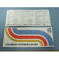 Chevrolet 1979 Dealer Automobile Exterior Color Brochure New Old Stock Beautiful