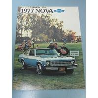 1977 Chevrolet Nova Dealer Automobile Sales Brochure New Old Stock Beautiful