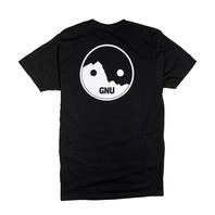GNU 2017 snowboard skateboard surf Mullair Tee-Shirt mens MED Black New Package