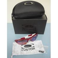OAKLEY mens Flak Jacket XLJ Custom Sunglass Team Red/G30 Golf New In Box w/case
