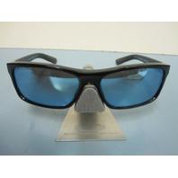 Revo Square Classic Sunglass Black/Water Blue Mirror Crystal Polarized New 4061