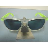 OAKLEY men FROGSKIN sunglass Matte Clear/Jade Iridium OO9013-B455 NEW in bag