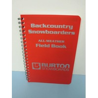 BURTON Snowboard 2003 Backcountry Split Board Guidebook Field Book New Old Stock